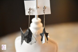 Black fish earrings +°+ Boucles d'oreilles poisson noir
